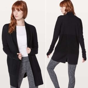 Lululemon Sit In Lotus Wrap Split Cardigan Sweater